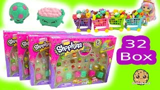 All 4 Full Shopkins Season 5 Super Shopper 32 Piece Box Set with 6 Exclusives