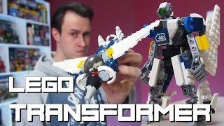 #GeekBrick Самоделка Трансформер-истребитель / LEGO MOC Transformer Battle Jet