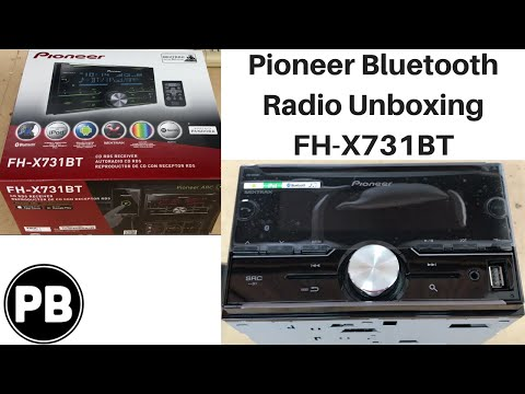 Pioneer Bluetooth Double Din Radio Unboxing   FH-X731BT