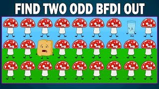 Can You Find Two Odd BFDI Out Levels 5 & 6   Find The Odd Battle For Dream Island   Find The Odd