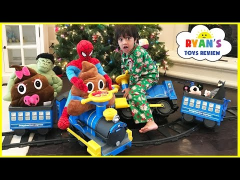POWER WHEELS Ride On Train With Tracks for Kids Playtime 6V Express Train Toy Videos for Children