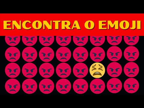 Encontra emoji - ENCONTRE O EMOJI DIFERENTE - Encontre o diferente em 25 segundos!