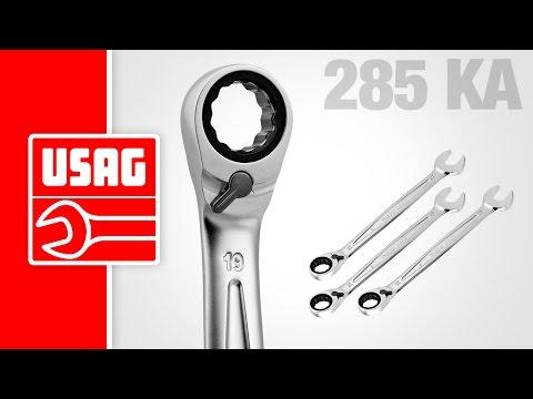 USAG 285 KA - Chiave combinata a cricchetto con anello di tenuta