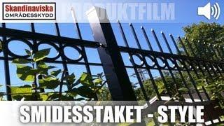 Smidesstaket - Style AW10.26 AW.10.26/P 2500x1200mm