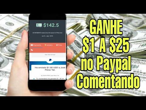 É GRÁTIS! Ganhe $1 a $25 no Paypal Comentando / Money no Paypal