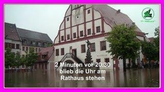 preview picture of video 'Hochwasser wieder in Grimma   - Wie das Wasser 20:30 Uhr in die Stadt lief -'