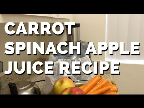 Video Fresh Carrot Spinach Apple Juice Recipe