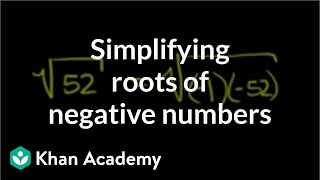 Imaginary Roots of Negative Numbers