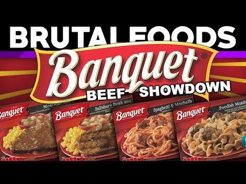 Banquet Beef Showdown – TV Dinner Reviews – brutalfoods