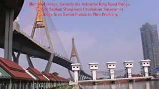 preview picture of video 'Samut Prakan Province, Bhumibol Bridge, formerly the Industrial Ring Road Bridge, Thailand. ( 4 )'