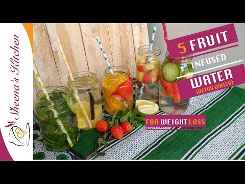5 Fruit Infused water| DETOX WATER FOR WEIGHT LOSS | Sheenas Kitchen