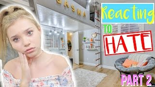 Reacting To Hate Comments on my ROOM TOUR! Part 2! | Sasha Morga