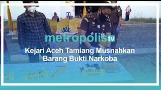 Kejari Aceh Tamiang Musnahkan Barang Bukti Narkoba