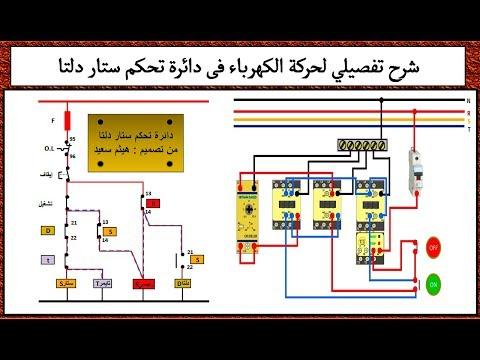 شرح تفصيلي لحركة الكهرباء فى دائرة تحكم ستار دلتا I هيثم سعيد