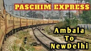 Ambala Cantt to New Delhi. Full Journey. ASR - BDTS Paschim Express.
