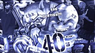 Ese 40'z Ft. Lazy Blue Devil - Skonkas In The Rain (Screwed)