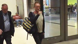 Legendary Singer Sting Reaches For Cigarette Immediately After Flight
