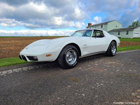 1976 White Corvette Stingray Black Int 4spd Video