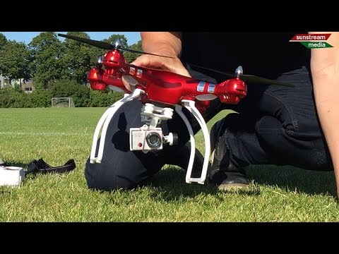 Walkera G-2D Gimbal tested with Syma X8HG
