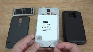Anker 7500mAh Extended Battery Combo for Samsung Galaxy S5 (Unboxing and First Look)