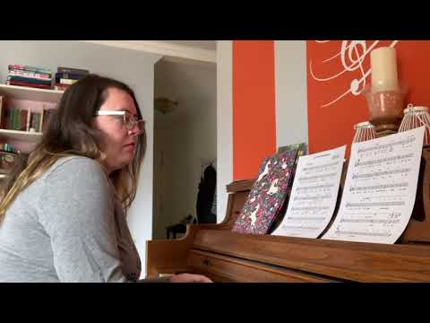 Top of the World accompaniment only video for voice students