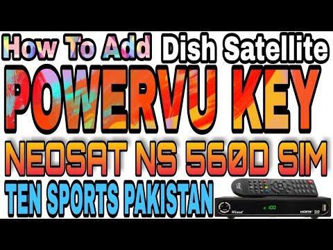 How To Add Power Vu Key On Neosat Ns 560d Watch Ten Sports