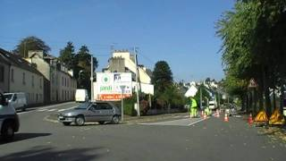 preview picture of video 'Driving On The D887 Rue De L'Amiral Bauguen, Châteaulin, Finistere, Brittany, France'