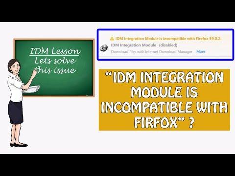 IDM integration est incompatible avec Firefox 53 ,52 ,51,50