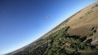 Cinematic Quadcopter Chasing RC Plane - HD Digital FPV-1 (Uncut)