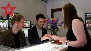 Cute Gay Couple Choose Their Wedding Rings 💍