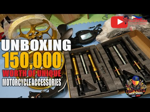 UNBOXING 150,000 WORTH OF UNIQUE MOTORCYCLE ACCESSORIES