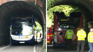 Winchester school bus crash: three children taken to hospital with 'serious injuries'