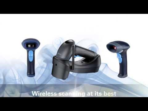 Unitech MS840B Cordless Laser Barcode Scanner video thumbnail