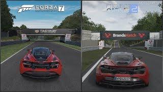 Forza Motorsport 7 vs Project CARS 2 - McLaren 720S at Brands Hatch