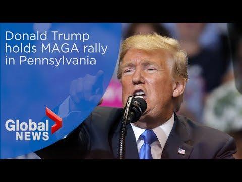 Donald Trump holds MAGA rally in Pennsylvania