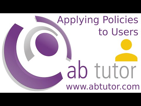 Applying policies to specific users via username groups in AB Tutor