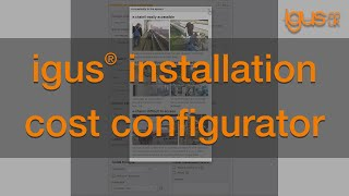 How to use the igus® energy chain installation cost configurator