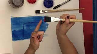 Jasper Johns 3 Flags Painting Demonstration