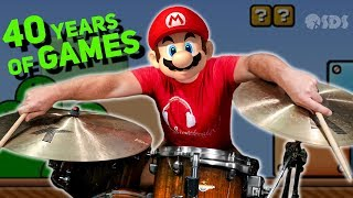 The familiar video game music mix with jazz drums are really amazing