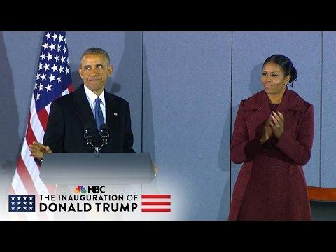 Former President Barack Obama's Final Speech Before Departing Joint Base Andrews (Full)   NBC News