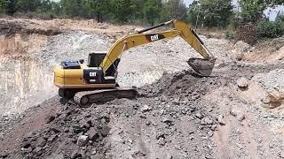 รีวิว excavator caterpillar  320d2 ขุดสระลึก 8 เมตร คุยการเตรียมหลักฐาน การดาวน์ รถขุด ครับ EP.1160