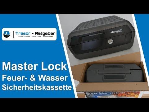 Master Lock - Feuerfester und wasserdichter Safe | Tresor Test