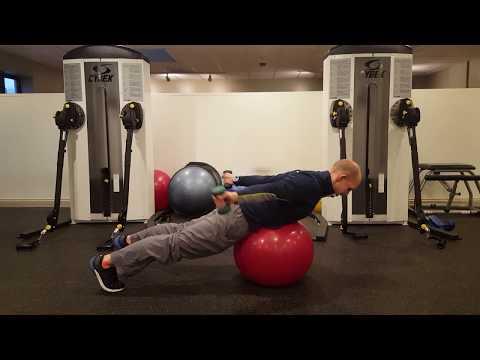 Square Workout Secrets - Stability ball cobra