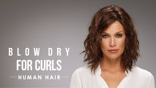 HOW-TO: Blow dry human hair wigs for diffused curls