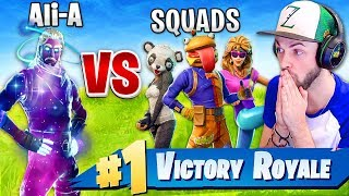 Ali-A - SOLO vs SQUADS - *NEW* MODE in Fortnite: Battle Royale!