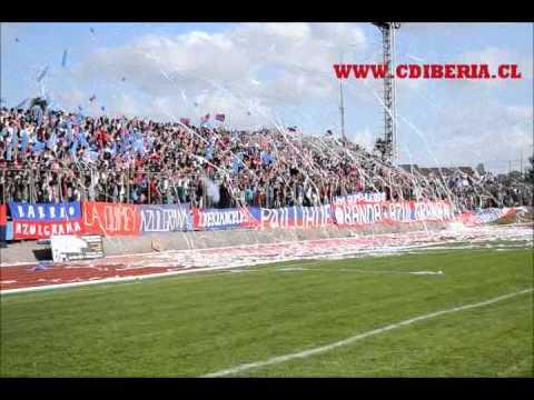 """""""Banda Azulgrana - Octubre 2011 (vs vial)"""" Barra: Banda Azulgrana • Club: Deportes Iberia"""