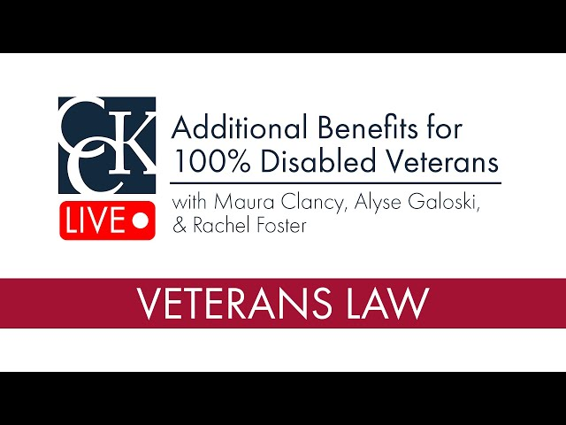 Additional Benefits for 100% Disabled Veterans