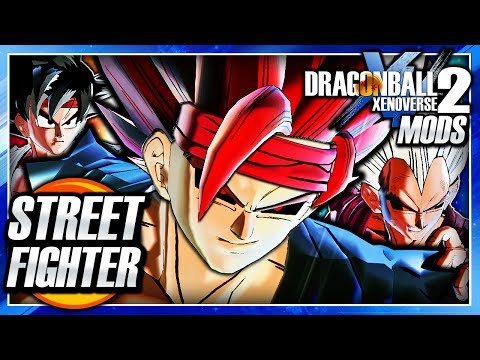 Dragon Ball Xenoverse 2 PC: Street Fighter DLC Pack Mod Gameplay (All Outfit Pack - Ryu & Ken)