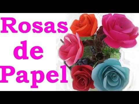 Rosas De Papel Super Sencillas Manualidades