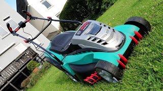 Bosch Rotak 43 LI - elektrischer Rasenmäher mit Akku - Unboxing und Preview